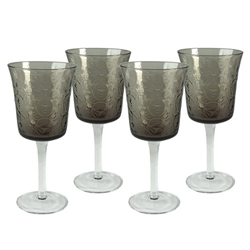 Artland 11731B Echo Goblet Smoke Glass, Set Of 4,