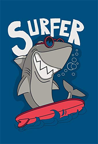 - AOFOTO 3x5ft Gray Cartoon Smiling Shark Surfer Backdrop Summer Beach Parties Background for Photography Kids Adults Birthday Decoration Photo Studio Props Vinyl Wallpaper