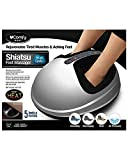 uComfy Shiatsu 2.0 Foot Massager With Heat And Air Compression - 5 Levels Of Massaging - Rejuvenates Tired Muscles and Aching Feet - Fits Up To Size 12 Feet - Includes Washable Cloth Cover - Silver