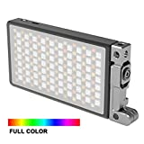INSSTRO Boling BL-P1 RGB LED Full Color Camera/Camcorder Light, Pocket Size Rechargeable Video Light with 2500k-8500k Color Range, 9 Common Scenario simulations with Premium Aluminum Alloy Shell