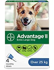Advantage II Flea Treatment for Extra Large Dogs weighing over 25 kg (over 55 lbs.)