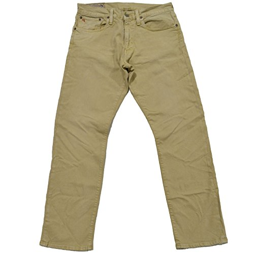 Polo Ralph Lauren Mens Slim Fit Jeans Varick (38x32, Light Khaki)