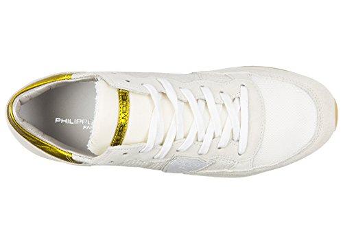 Philippe Model zapatos zapatillas de deporte mujer en ante nuevo tropez perforé