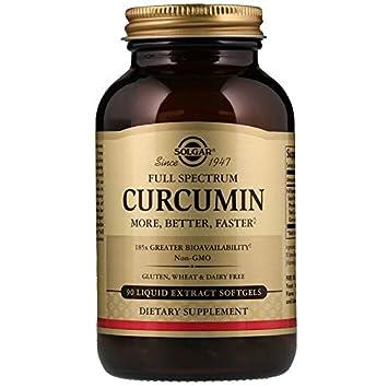 Solgar Full Spectrum Curcumin – 90 Liquid Extract Softgels – Brain, Joint, Immune Support Supplement, Anti inflammatory, Antioxidant – Non-GMO, Gluten Free – 90 Servings