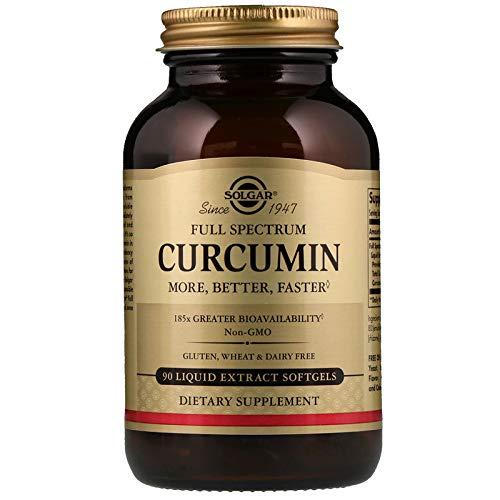 (Solgar Full Spectrum Curcumin - 90 Liquid Extract Softgels - Brain, Joint, Immune Support Supplement, Anti inflammatory, Antioxidant - Non-GMO, Gluten Free - 90 Servings)