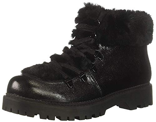 Circus by Sam Edelman Women's Kilbourn Fashion Boot, Black/Metallic Smooth Atanado Veg/Lobo Fur, 6.5 M US (Circus By Sam Edelman Lace Up Boot)