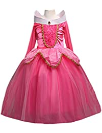 Sleeping Beauty Princess Aurora Party Girls Costume Dress 2-10 Years
