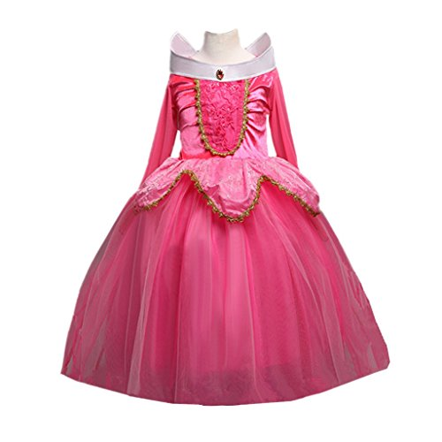 DreamHigh Sleeping Beauty Princess Aurora Party Girls Costume Dress Size 5-6 Years