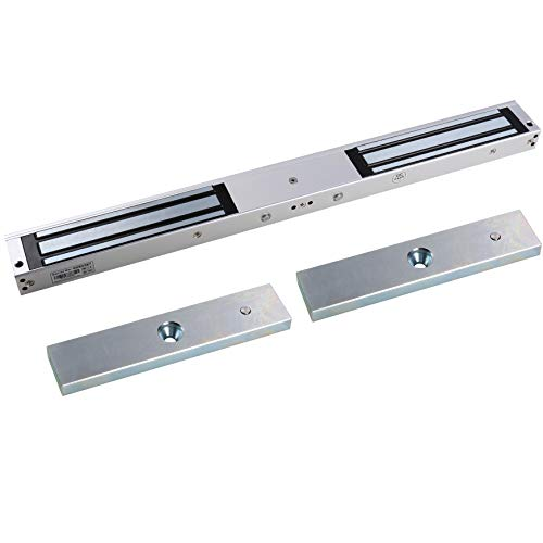 UHPPOTE UL Listed 280Kg/600lbs Holding Force Double Door Electric Magnetic Lock