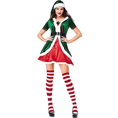 Viyorshop Women's Elf Costume Adult Christmas Santa Helper
