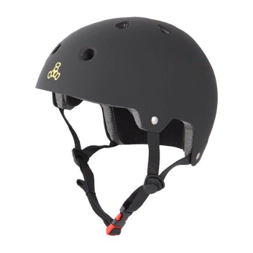 8 Brainsaver Triple ciclismo Rubber Black da Casco vRAUO