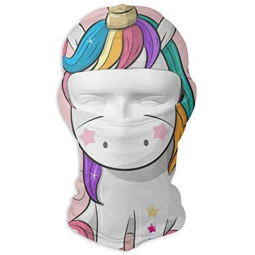 Balaclava Happy Birthday Unicorn Balloon Full Face Masks UV Protection Ski Hat Headwear Motorcycle Hood for Cycling Snowboard Women Men]()