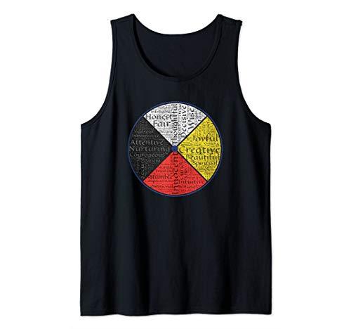 Native American Words Of The Medicine Wheel 1 - Fan Fun Tank Top