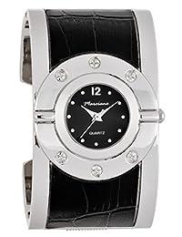 Marciano Women's | Futuristic Black & Silver Fashion Bangle Watch | FC0168