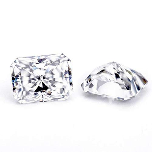 JEWELERYIUM 2.00CT Real Colorless Moissanite Diamond, VVS1 Clarity, Radiant Cut Brilliant Gemstone for Jewelry Making, Ring, Earrings, Necklaces, Watches from JEWELERYIUM
