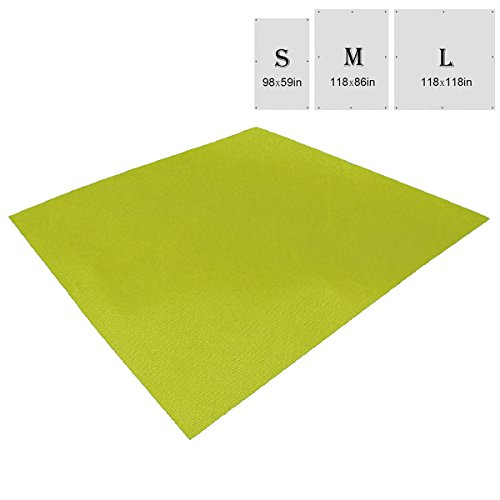 4 Person Floor Saver - TRIWONDER Waterproof Hammock Rain Fly Tent Tarp Footprint Camping Shelter Ground Cloth Sunshade Mat for Outdoor Hiking Beach Picnic (Green, L - 118 x 118in)
