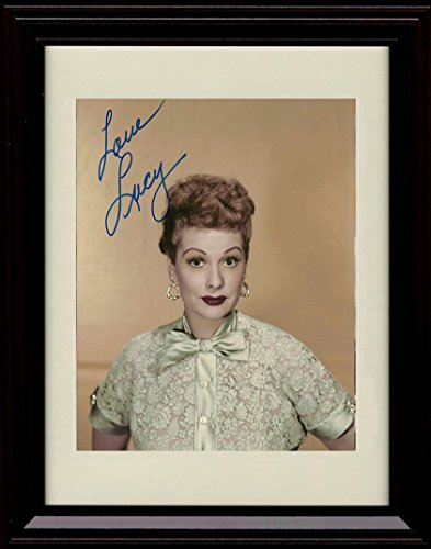 Framed Lucille Ball Autograph Replica Print - I Love Lucy