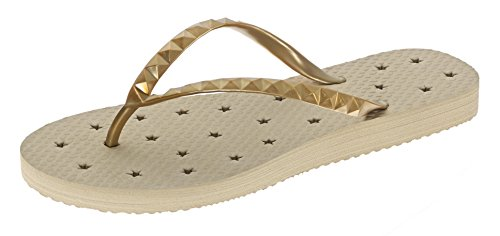 Showaflops Womens' Antimicrobial Shower & Water Sandals for Pool, Beach, Dorm and Gym - Golden Sand 9/10 by Showaflops (Image #2)