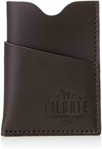 b8a9572f6de4 Filgate Mens Genuine Leather Vertical Card Holder Money Wallet