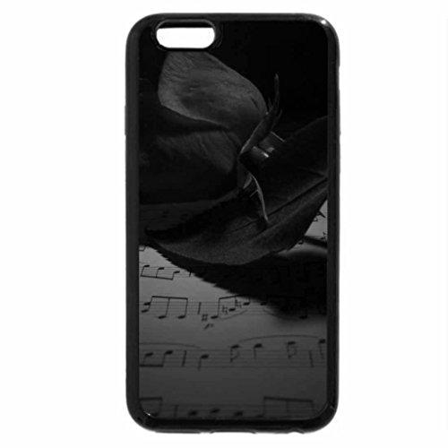 iPhone 6S Plus Case, iPhone 6 Plus Case (Black & White) - Rose & Music