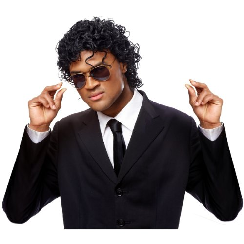 Costume Culture Men's Wet Look Wig, Black, One Size -