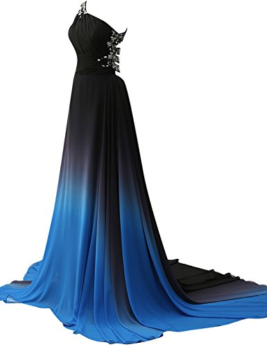 Jaeden Robe De Bal En Mousseline De Soie Gradient Formel De Robes De Soirée Longues Robes De Fête De Bal Bleu-quatre