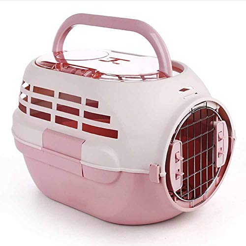 - XIAOAN Airline Approved Pet Carriers Hard-Sided Carriers for Dog & Cat with Skylights Pet Air Box Breathable Portable Out Air Freight Box Portable Travel Consignment