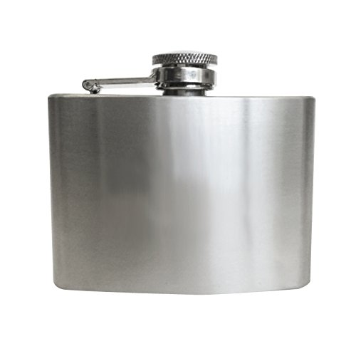 Thirsty Rhino Minum Stainless Steel Hip Flask (4 oz Short, Brushed Stainless - Flask Hip Ounce 4