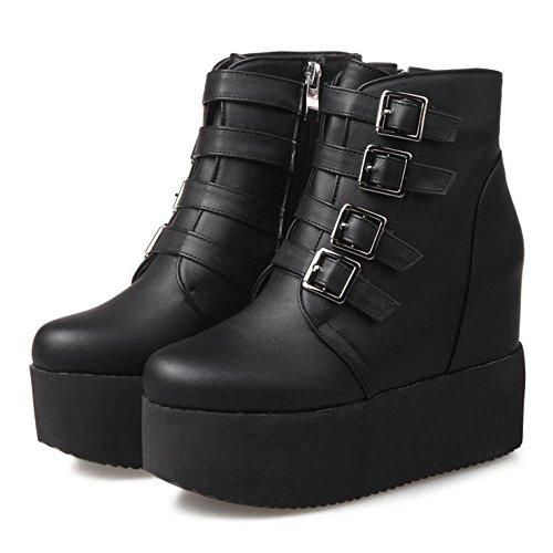 Black Zipper Bootie COOLCEPT Fashion Women zqx8wxFB7I