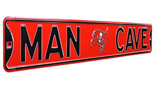 - NFL Tampa Bay Buccaneers Man Cave, Heavy Duty, Steel Street Sign