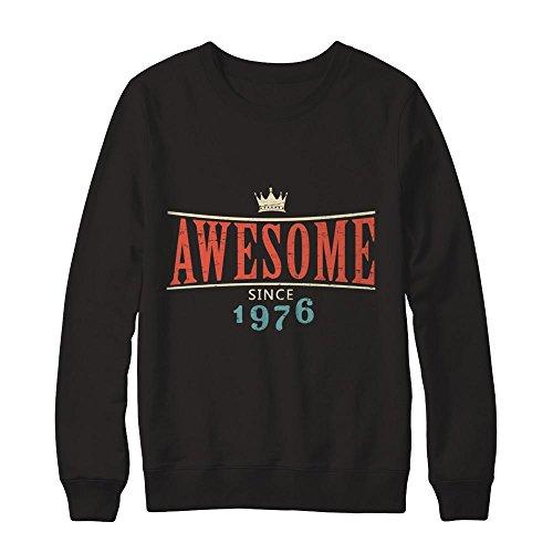 Teely Shop Men's Retro Awesome Since 1976 Birthday Constume Gildan - Pullover Sweatshirt/Black/4XL ()