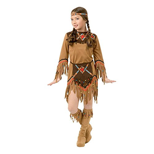 [Charades White Dove Indian Girl Kids Costume As Shown - Medium] (That Girl Costumes)