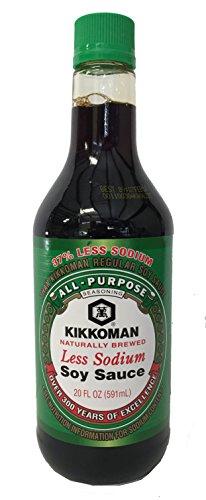 Kikkoman Light Soy Sauce, Less Sodium, 20 ounce (Sauce Kikkoman Soy Soy)