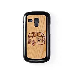 Carved on Wood Volkswagen Black Flip Case Snap-On Protective Hard Cover for Apple? iPhone 5 / 5s by Chargrilled + FREE Crystal Clear Screen Protector