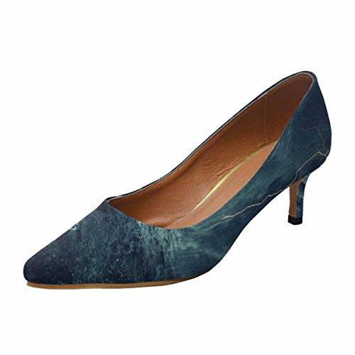 Interestprint Femmes Bas Chaton Talon Pointu Toe Robe Pompe Chaussures Océan Multi 1