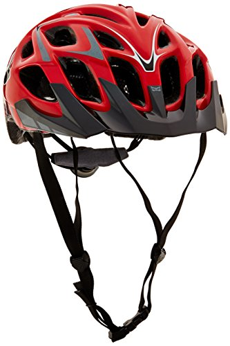 Kali Protectives Chakra Plus Bike Helmet, Wisdom Red/Grey, Small/Medium