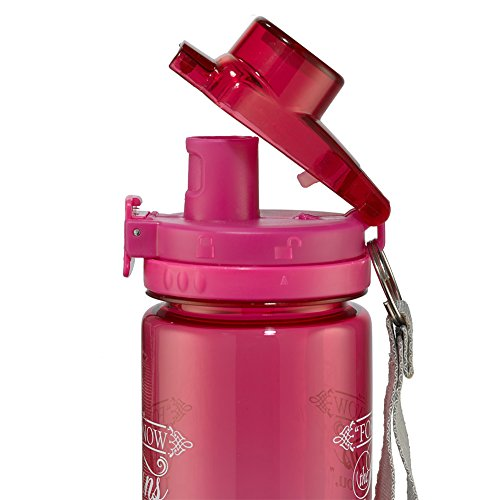"""""""I Know the Plans"""" Pink Plastic Water Bottle – Jeremiah 29:11"""