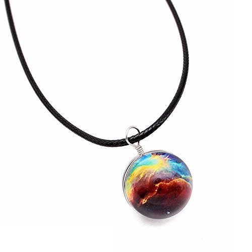 Gbell Clearance! Girls Retro Galaxy Glass Ball Pendant Necklace Glow in The Dark - Star Universe Choker Neck Chains for Women Teen Girls Party Ball Date Jewelry Statement Gift ()