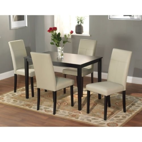Dining Tables Set This 5 Piece Dining Room Furniture Set Is Elegant for Any Dining Room Area, Dining Chairs Are Very Comfortable and Set Is Made From Solid - Set Dining Piece Room 5