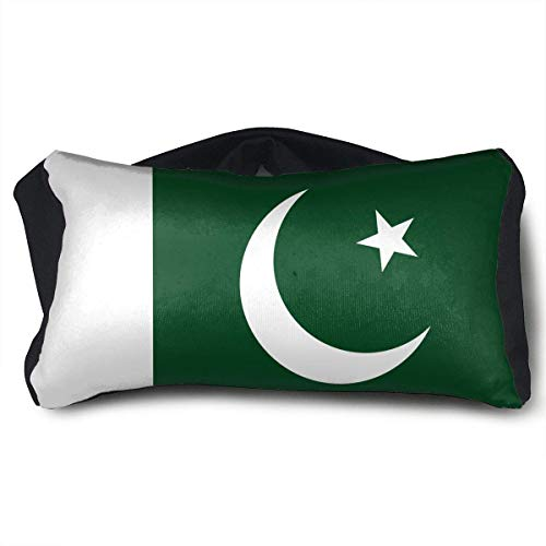 Beatybag Flag of Pakistan Voyage Pillow and Eye Mask Neck Pillow Neck Support Pillows