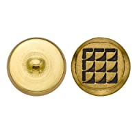 C&C Metal Products 5249 Modern Metal Button, Size 36 Ligne, Antique Gold, 36-Pack