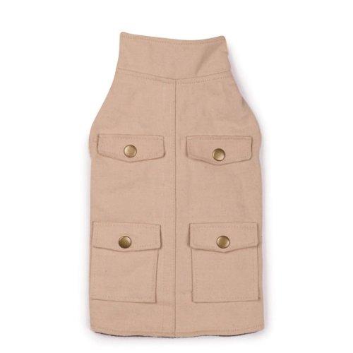 (Zack & Zoey Polyester/Cotton Utility Dog Jacket, Medium, Khahi)