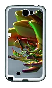 Abstract Glass Art Personalized Samsung Galaxy Note 2/ Note II/ N7100 Case and Cover - TPU - Black