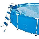 Escada Life 3 Degraus Premium Bel Fix Azul/Branco
