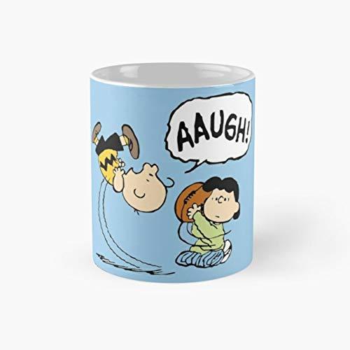 CHARLIE BROWN AND LUCY FOOTBALL Mug, Funny Mugs, 11 Ounce Ceramic Mug, Perfect Novelty Gift Mug, Tea Cups, Funny Coffee Mug 11oz, Tea Mugs
