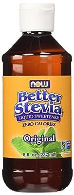 NOW Foods Better Stevia Original Liquid Extract Alcohol