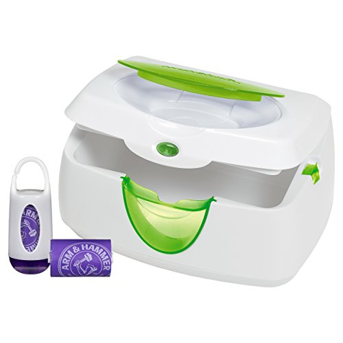 Munchkin Warm Glow Wipe Warmer and Diaper Bag Dispenser Set (Purple)