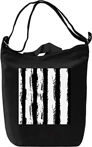 Black and White Lines Borsa Giornaliera Canvas Canvas Day Bag| 100% Premium Cotton Canvas| DTG Printing|