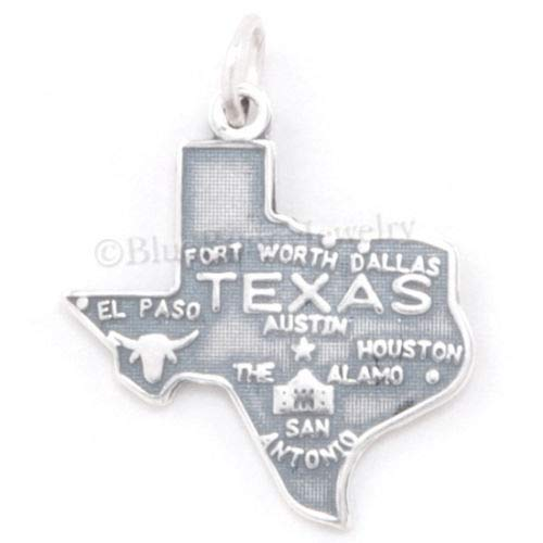 - OutletBestSelling Beads Bracelet Texas State Charm Pendant Dallas Austin Alamo MAP Sterling Silver
