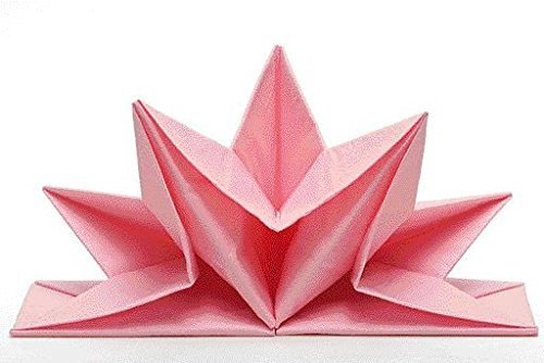 Napkins Venezia, colour: pink, pre folded, Contains pro packing: 12 Pieces, Star shape, Table decoration, Party, Easter, Wedding, Christmas, Christening, Anniversary Sona-Lux